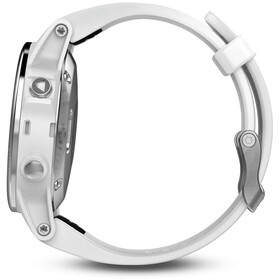 Garmin fenix 5S GPS Multisportuhr mit weißem Armband grau